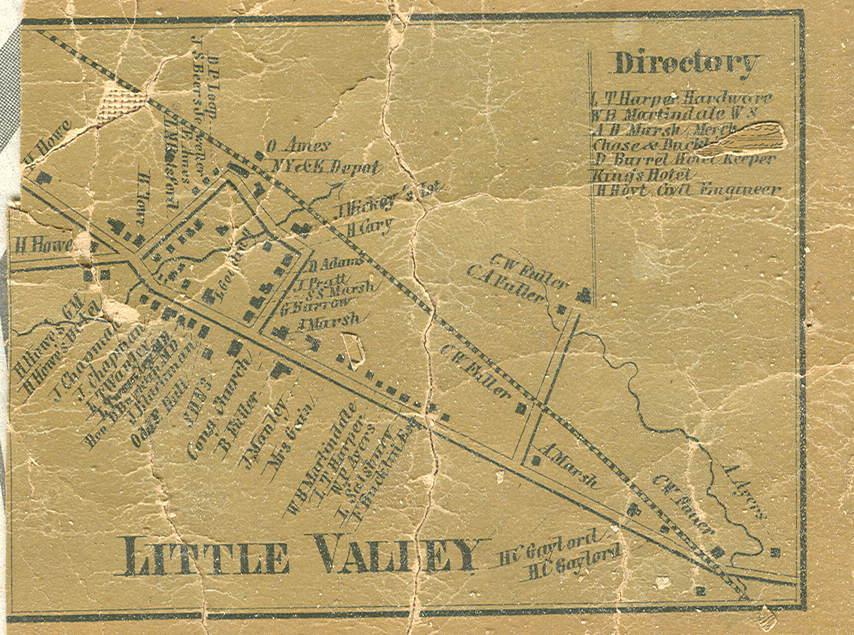 Cattaraugus County, NY Wall Map (1856) on